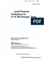External Pressure Limitations for Storage Tanks