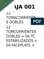 CAJA 001
