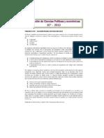 Evaluación de Tercer Periodo Ciencias Políticas y Económicas