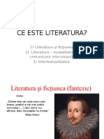 Ce Este Literatura