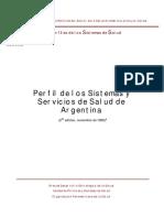 Perfil de los Sistemas y Servicios de Salud de Argentina