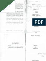 MACHEREY, Pierre - Hegel Ou Spinoza