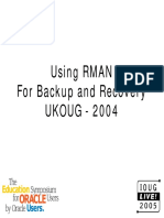 Using RMAN for Backup and Recovery