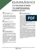 Simulado - XX Exame da OAB - 2ª Fase - Direito Empresarial
