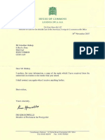 Letter from Kim Howells to Jonathan Bishop on House of Lords (14 November 2007)