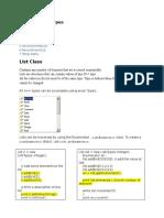 Advance Datatypes