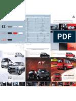 Perodua  Kenari Brochure