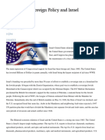 US Foreign Policy and the Israel Lobby