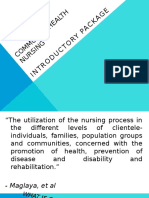 Introduction to Community Health Nursing Exposure