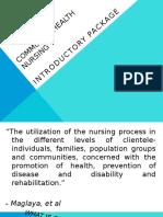 Introduction to Community Health Nursing Exposure
