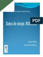 Tema 03.02 - Datos de Oleaje. ROM 0.3.