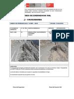 OE N° 019EV - 2016 EROSION LATERLA TALUD INFERIOR DE PLATAFORMA KM 77+124 KM 77+139