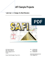 Design of a Steel Structure SAFI