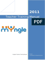 Myngle Teacher Training Manual - 2011