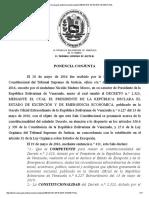 Decisión Sala Constitucional Decreto de Emergencia Económica PRÓRROGA JULIO 2016