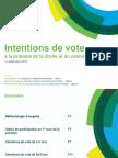 Harris Interactive - Intentions de vote à la primaire à droite