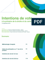 Harris Interactive - Intentions de vote à la primaire à droite