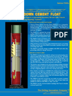 108 73000e Pump Down Cement Float