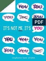 It's Not Me It's You (Excerpt)