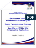 USDA-RUS - Broadband Stimulus R2 Apps Database w PNR Filings Updated 06-01-2010