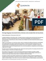 15/07/16 Entrega Sagarpa Reconocimiento a Sonora Como Estado Libre de Brucelosis - Quadratín Michoacán - Quadratín Michoacán