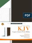 KJV, Super Giant Print Reference Bible - Galatians