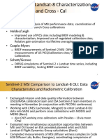 Sentinel-2 MSI Comparison to Landsat-8 OLI