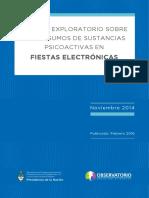 Estudio exploratorio sobre el consumo de sustancias psicoactivas en fiestas electrónicas. Año 2014