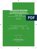 Reforms of President Jonathan 10-1-15 for Press Rgb Format