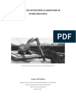 A Review of Geotechnical Behavior of Stabilized Soils