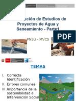 Formulación de Estudios de Agua y Saneamiento