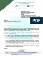 Documento enviado por SOS Desaparecidos al Ministro Interior