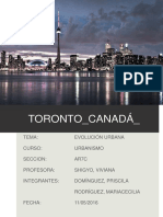 Analisis Urbano Toronto