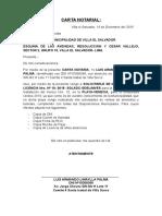 Carta Notarial Licencia
