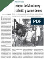 12-09-16 Empiezan festejos de Monterrey con sabor a cabrito y carne de res