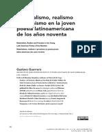 Gustavo Guerrero. Materialismo, realismo y prosaísmo en la joven poesía latinoamericana de los 90s. 2016