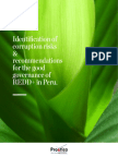 Identification of corruption risks & recommendations for the good governance of REDD+ in Peru