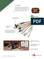 Siemon Lightsystem Jumper and Pigtails Spec Sheet