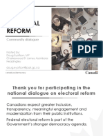 Town Hall Presentation - Electoral Reform and Climate Change