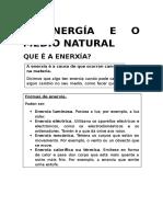 A Enerxia e o Medio Natural.