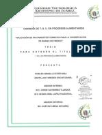 Aplicación de Tratamientos Termicos Para La Conservacion