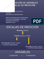2. Variables y Escalas de Medición y Estadistica Descriptiva
