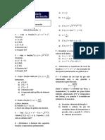 Lista de Exercícios1 - CálculoIII Várias Variáveis Curvas Nível