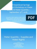 Water Presentation