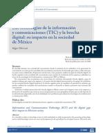 Las Tecnologías de La Informacióny Comunicación (TIC) y La Brecha Digital- Su Impacto en La Sociedad de México