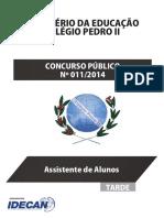 Idecan 2014 Colegio Pedro II Assistente de Alunos Prova (1)