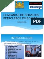 Compañias de Servicios Petroleros en Bolivia