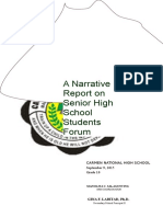 Senior High School Students Forum