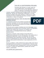 La Importancia de La Gastronomia Peruana