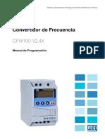 WEG Cfw100 Manual de Programacion 10002898237 2.4x Manual Espanol